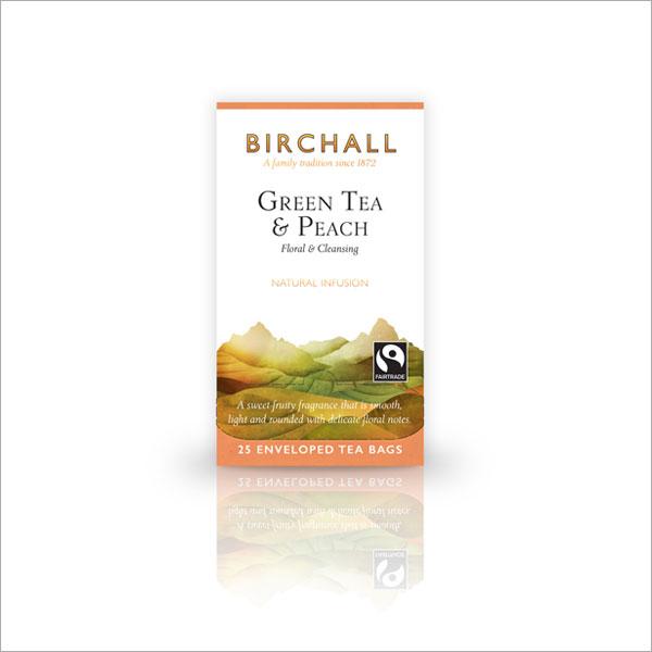 Birchall Green Tea & Peach Tagged & Enveloped