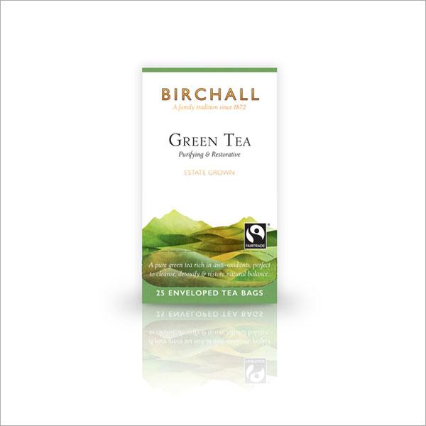 Birchall Green Tea Tagged & Enveloped