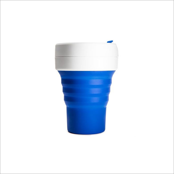 STOJO COLLAPSABLE POCKET CUP - 12OZ BLUE