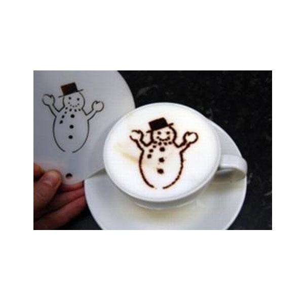 Stencil - Happy Snowman