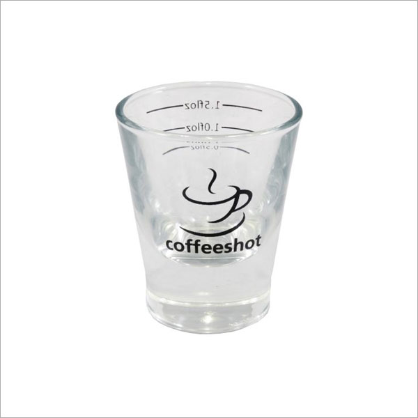 Coffeeshot Glass 2oz Lined At 0.5 / 1.0 / 1.5 Floz