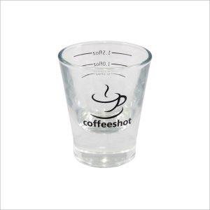 Coffeeshot Glass 2oz Lined At 0.5 / 1.0 / 1.5 Floz