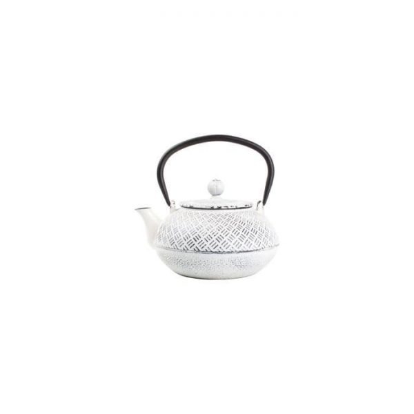 AERTS Serving teapot - 0.8 l - White cast iron on black cubes
