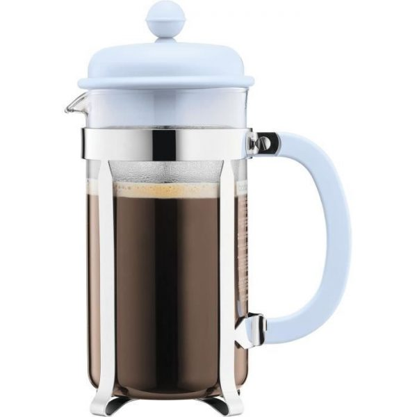 BODUM CAFFETTIERA Piston Coffee Maker - 8 Cups - 1 L - Pastel Blue