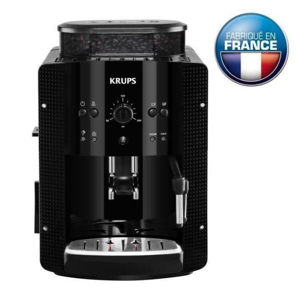 KRUPS YY8125FD Automatic Espresso Machine with Crusher - Black