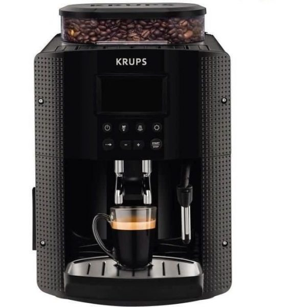 KRUPS YY8135FD Automatic Espresso Machine with Crusher - Black