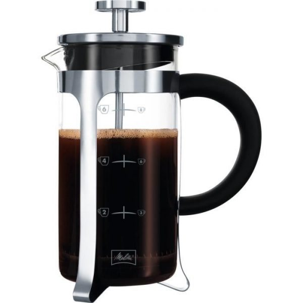 MELITTA Premium piston coffee maker in glass and stainless steel 8 cups