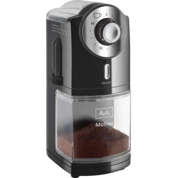 MELITTA 1019-02 Molino Electric Coffee Grinder - Black
