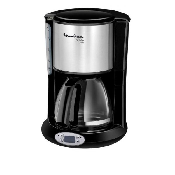 MOULINEX FG362810 Subito Timer Programmable Filter Coffee Maker - Black