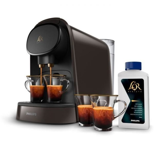PHILIPS L'OR Barista LM8012 / 71 Coffee machine with coffee capsules + 2 cups and descaler - Café Moka