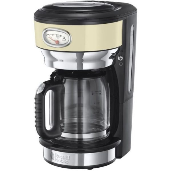 RUSSELL HOBBS 21702-56 - Retro coffee cup - 10 cups - 1000 W - Creme