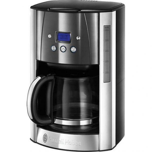 RUSSELL HOBBS 23241-56 - Luna Coffeemaker - Programmable - Light Gray Moon