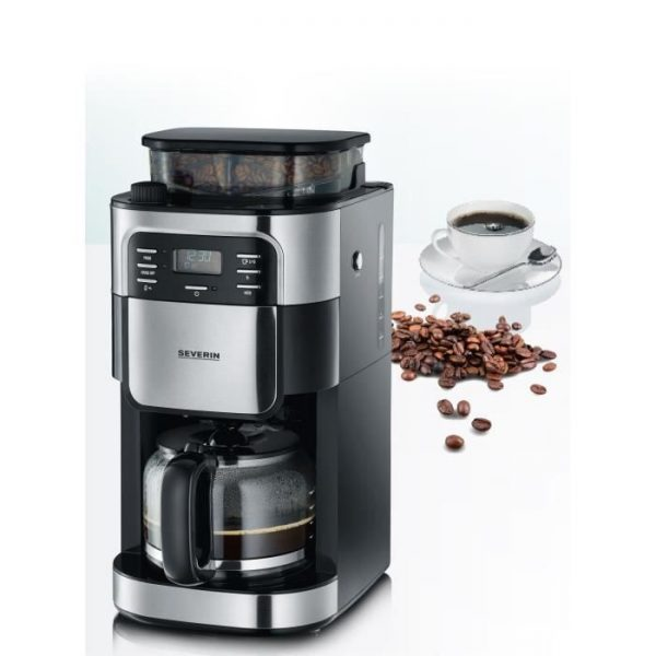 SEVERIN 4810 Coffee filter with integrated grinder - Black and stainless steel - 1000W - 1