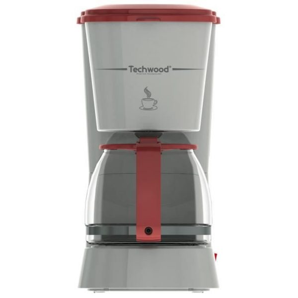 TECHWOOD TCA-685 Filter coffee maker - Gray and Red